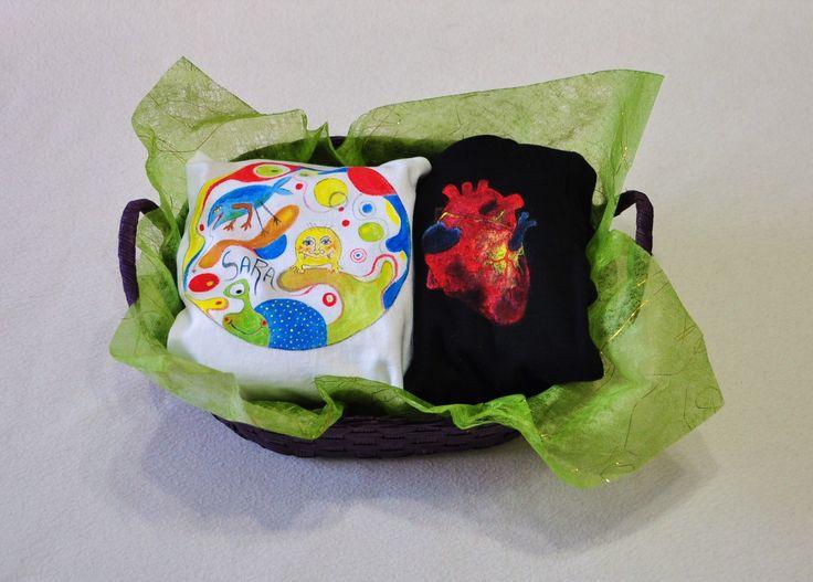 Canastilla nº1: Body+camiseta+cesta.