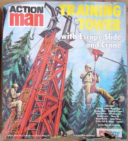 Action Man Training Tower....loved this as a kid. My mum made me a new net too!