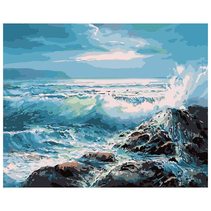 ocean wave painting – Google Search