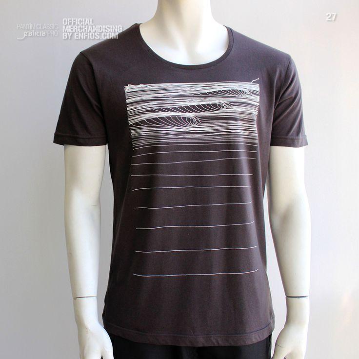 T-Shirt PANTÍN beach. Camiseta oficial PANTIN CLASSIC PRO, evento 27 en color gris oscuro.