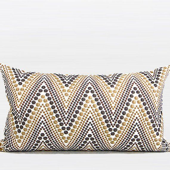 Product Decorative Pillow Case Dimensions 12 X 20 Pillow Cover Gold Brown Dark Gray 100 Decorative Pillow Cases Embroidered Throw Pillows Embroidered Pillow