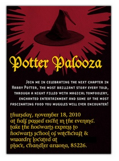 Harry Potter Party #harrypotter #harry HP Invite: Harry Potter Parties, Hôtess Hopeless, Senior Parties, Hopeless Hostess, Parties Ideas, Pallooza Potter, Parties Harrypott, Potter Birthday, Parties Theme
