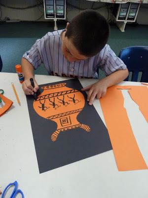 The Accidental Art Teacher: Greek vases 2013