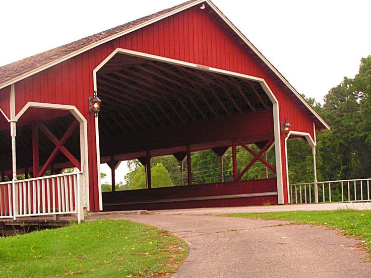 Covered Bridge - Conroe, TX  Entrance into River Plantation - 3 miles S of Conroe on Interstate 45