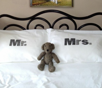 these pillowcases would be such a cute bridal shower gift