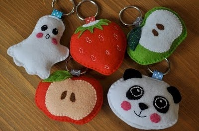 felt keyring animals. SMART for the minis!!
