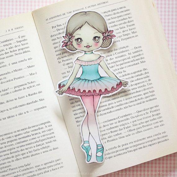 Alina the Ballerina laminated bookmark  Tutu by ribonitachocolat, $2.50