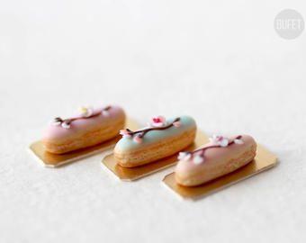 Items similar to Hello Kitty French Eclair - Kawaii - Miniature ...