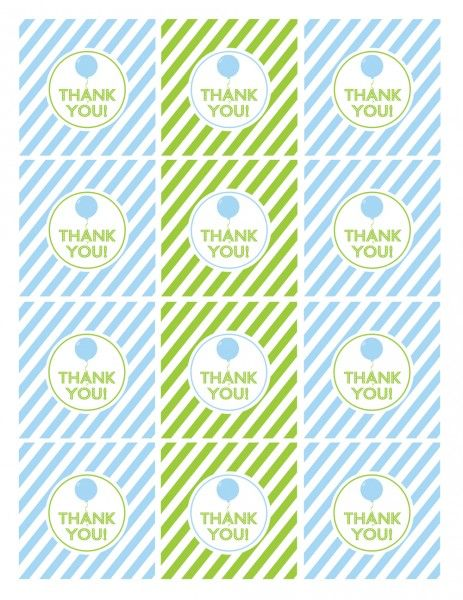 free printables boy birthday favor tags blue green