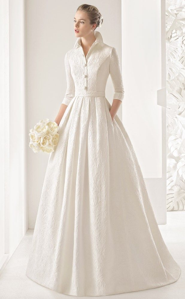 Courtesy of Rosa Clará Wedding Dresses; www.rosaclara.es/en; Wedding dress idea…