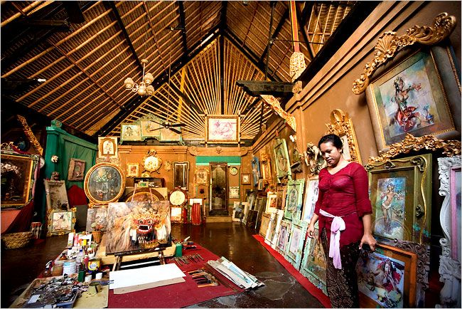 The original painting studio of Antonio Blanco, a Spanish painter who settled in Bali in 1952.