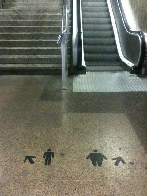 silly escalator instructions