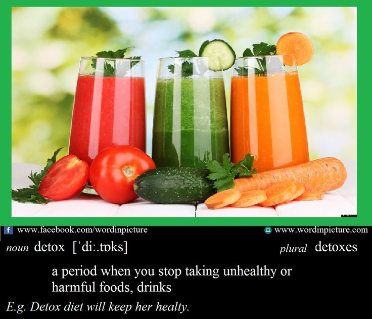 """Learn new word in English: """"Detox""""  Detox meaning."""