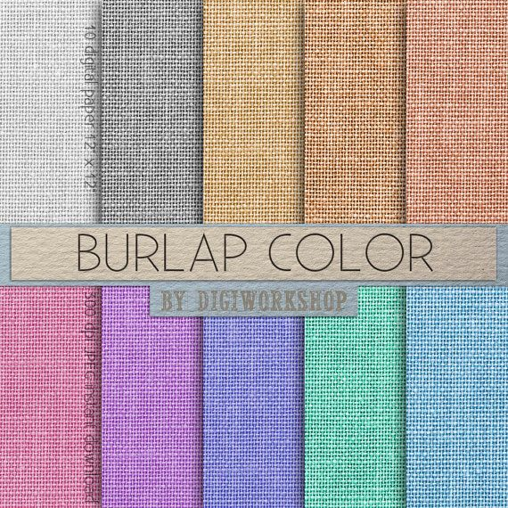 burlap digital paper burlap color with burlap linen jute texture in green blue red. Black Bedroom Furniture Sets. Home Design Ideas