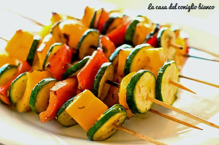 Spiedini di verdure per barbecue