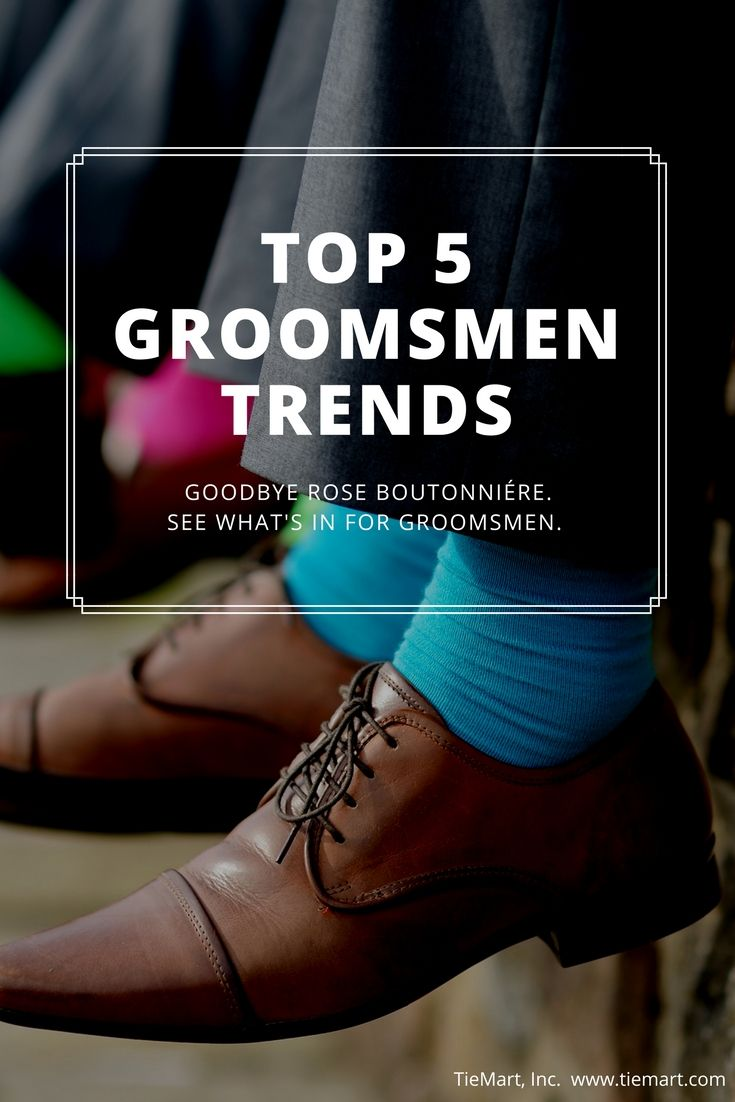 Goodbye formal portraits and single rose boutonniere. Today's top groomsmen trends are all about having fun.