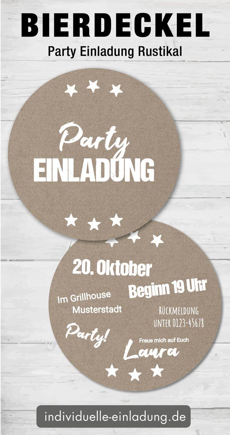 bierdeckel einladung | bierdeckel, einladungen, party