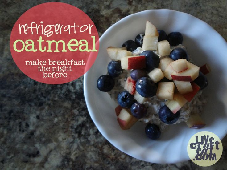 overnight refrigerator oatmeal recipe - hands down the best and easiest breakfast recipe you will ever make! | www.livecrafteat.com