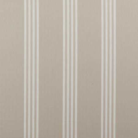 Marlow - Natural fabric, from the Ticking Stripes collection by Clarke and Clarke