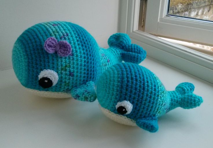 Willa the Whale (smaller one is from the lovey version) - One and Two Company Crochet patterns