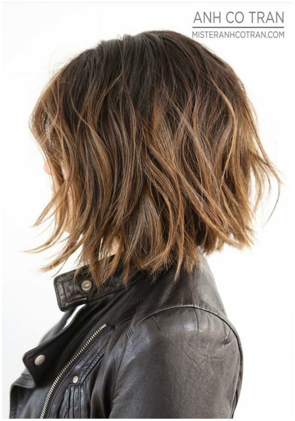 bob hairstyle + textured ends | flattering hair cut for shorter length