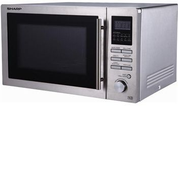 Sharp R82STMA - 25litre combination microwave in Combination stainless steel microwave oven (3-in-1) with convection and grill function. Including 10 auto menus options, weight and time defrost function, child safety lock, delay start function and d http://www.MightGet.com/january-2017-11/sharp-r82stma--25litre-combination-microwave-in.asp