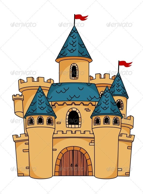 Medieval Cartoon Castle