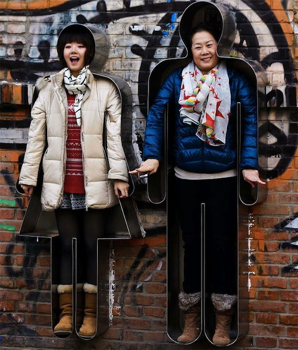 Mount Yourself To A Wall At This Interactive Street Art Installation In Beijing - DesignTAXI.com