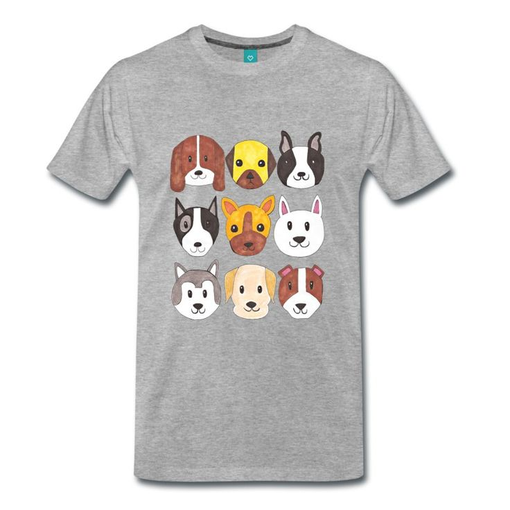 Dogs T-shirt #dog #animal #clothing #shopping #elekairi https://www.spreadshirt.it/dogs-A200300070?department=1&productType=812&color=CBCBCB&appearance=231&view=1