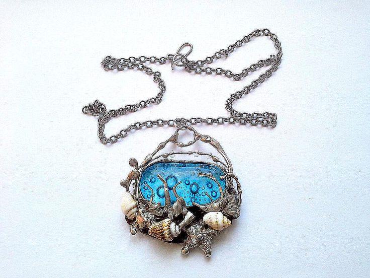 náhrdelníky s fusingovým sklem :: Šperky od Lenky