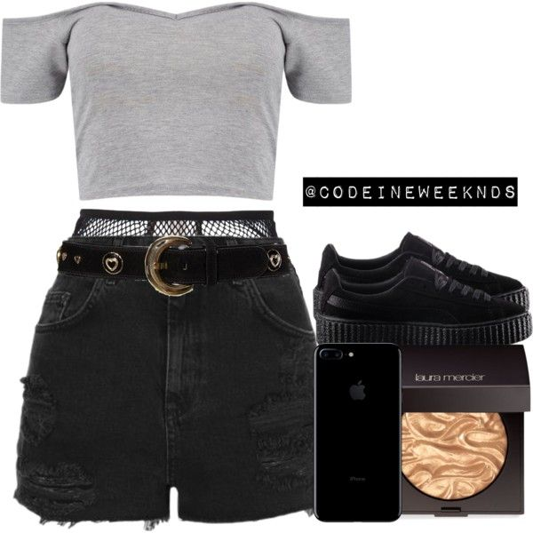 A fashion look from November 2016 featuring Boohoo tops, Topshop shorts and Fleur du Mal panties. Browse and shop related looks.