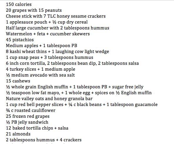 Shred diet snack list