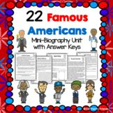 22 Famous Americans - Mini-Biography Worksheets Obama Fred