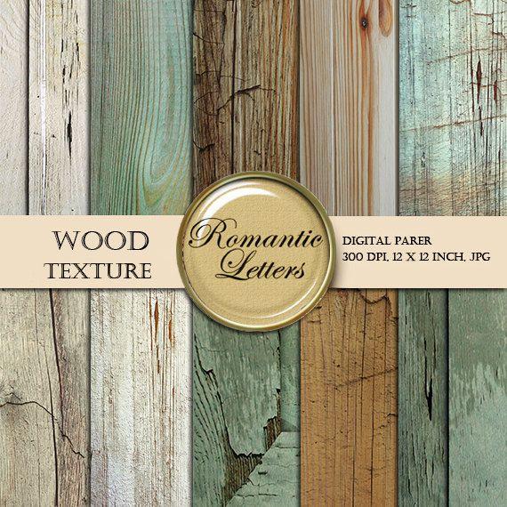 Digital Wood paper digital wood scrapbook paper by RomanticLetters