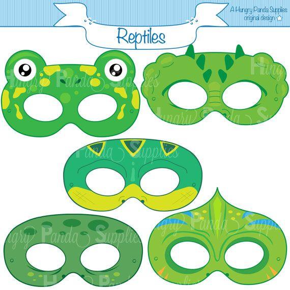 Reptile Printable Masks, lizard mask, turtle, alligator, chameleon, frog, snake, crocodile, lizard, reptiles, masks, turtle mask, gator