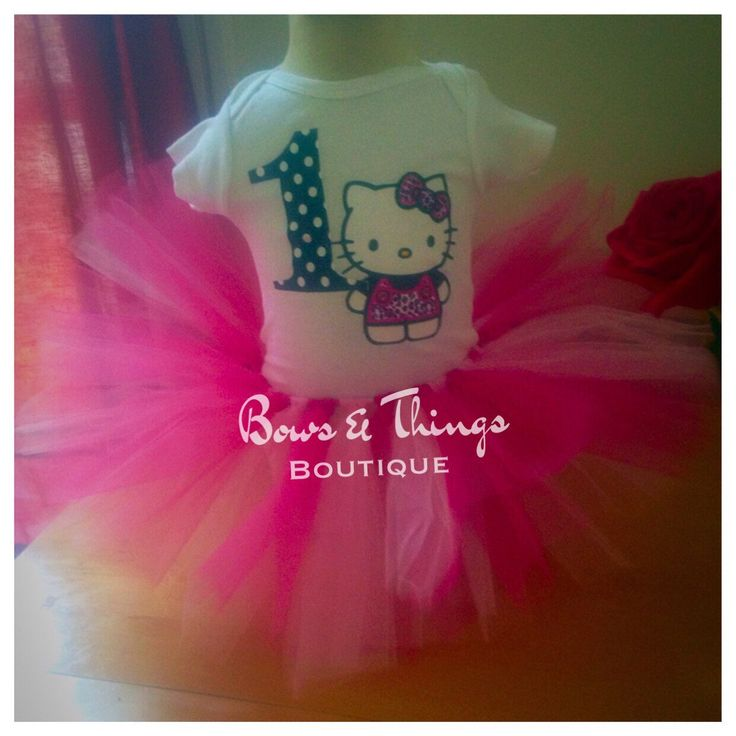 Hello kitty birthday tutu set, 1st birthday hello kitty theme! ADORABLE!!   A personal favorite from my Etsy shop https://www.etsy.com/listing/478784575/hello-kitty-tutu-set-hello-kitty-1st
