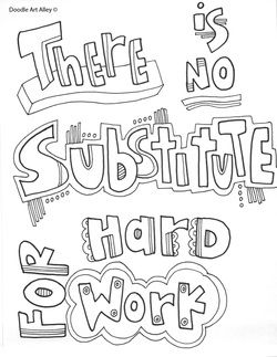 Free and printable quote coloring pages, perfect for the