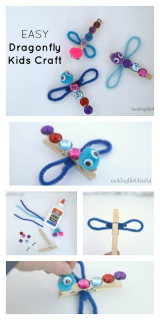 Making Life Blissful: Clothespin Dragonfly Craft for Kids