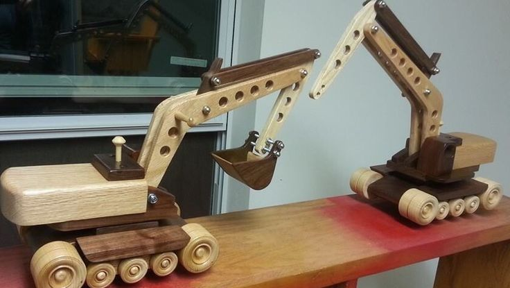 Excavators from oak and walnut. Items not for sale.