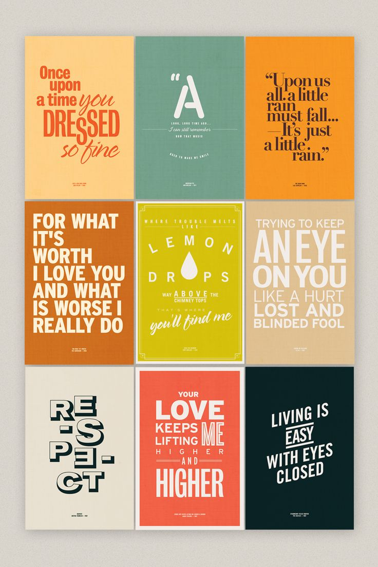 Poster design quotes - 25ah Design Studio Stockholm Graphic Identity Scandic Grand Central Sgc Typography Quotes Quotations Music Lyrics Color