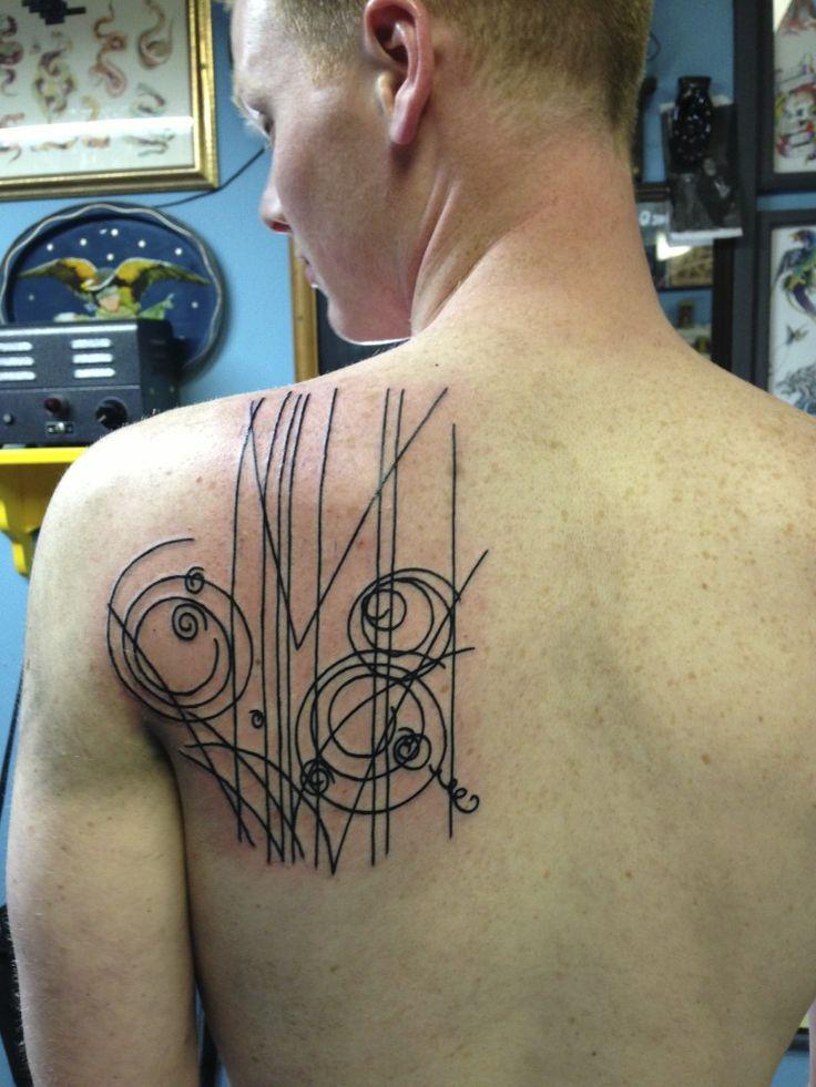 Bubble Inspiration Back Shoulder Tattoos For MEn