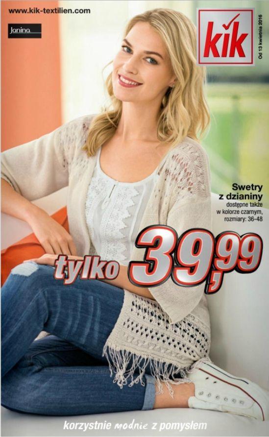 Весняні ціни в магазині KIK (від 13 квітня 2016) http://kikmedia.kik-textilien.com/files/pdf/Prospekte/2016/P06/PL/