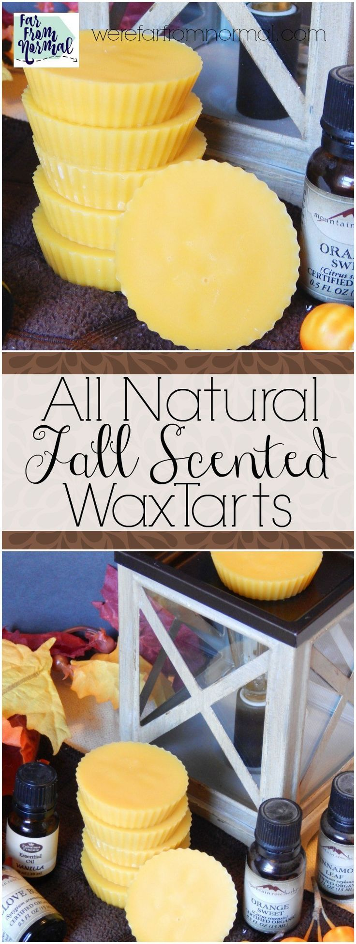 These wax tarts smell amazing!! Made with beeswax and essential oils they are completely chemical free!