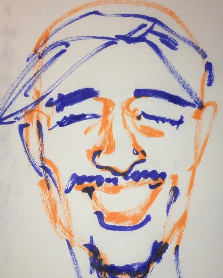 1mindrawさんはInstagramを利用しています:「#1mindraw #2pac #トゥーパック #19710616 #birthday #誕生日 #portrait #筆ペン画」