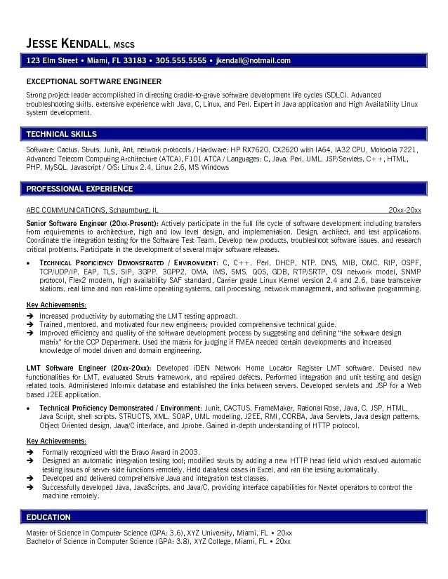 software engineer resume template word resume ideas News to Go 2