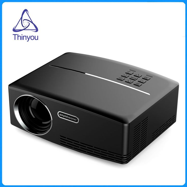Thinyou Newest Mini LED Projector Full HDMI USB PC Portable Multimedia Home Theater Movie Game Proyector Beamer VGA AV USB #Affiliate