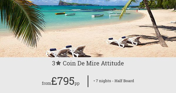Book a memorable holiday to Mauritius with this exclusive offer for Coin De Mire Attitude! Savour delightful amenities and warm hospitality at a great price!