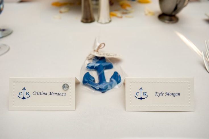 Luxury Daytona Beach Wedding at The Shores Resort and Spa, FL  Fun nautical themed escort cards!   Photographer:  Our Day Wedding Photography