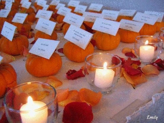 cute idea for fall wedding by tommie