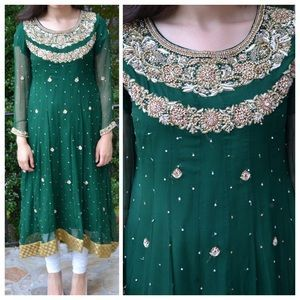 Dresses & Skirts - Green Pakistani shalwar kameez                                                                                                                                                      More
